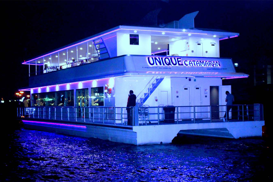 Dubai Canal Catamaran Dinner Cruise