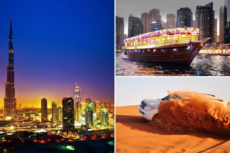 Desert Safari, Dhow Cruise Marina and Dubai City Tour