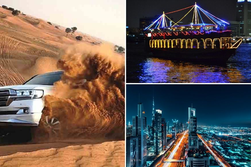 Desert Safari, Dhow Cruise Creek and Dubai City Tour