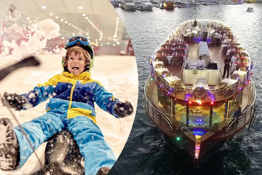 Snow Park Classic Pass & Dhow Cruise Marina Combo