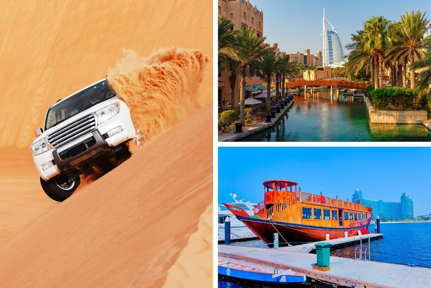 Desert Safari, Dhow Cruise Canal and Dubai City Tour