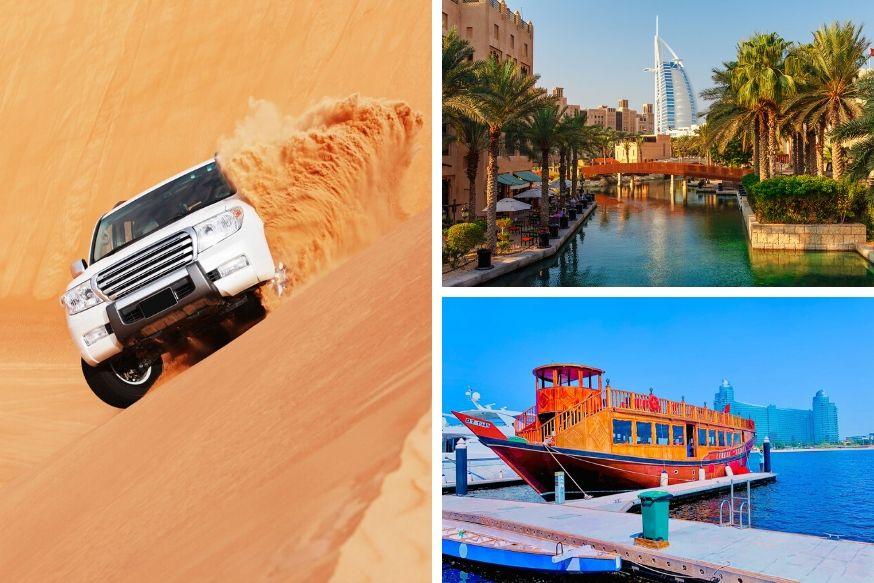 Desert Safari, Dhow Cruise Canal and Dubai City Tour