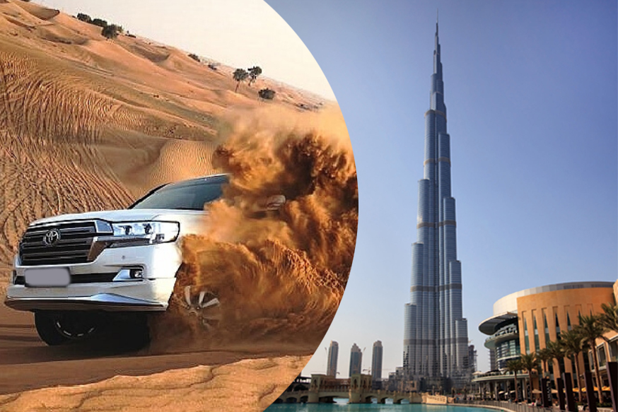 Desert Safari and Burj Khalifa Entry Ticket